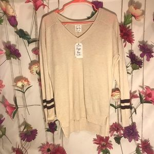 Hippie Rose Tops - Hippie Rose Sweater | Varsity Sweater | Size M